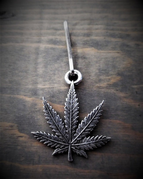 "Zipper Pull - Pot Leaf (1.25"" x 1.25"")"