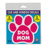 "Window Decals (2-Pack) - Dog Mom (4.25"" x 4"")"