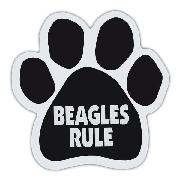 Dog Paw Magnet - Beagles Rule
