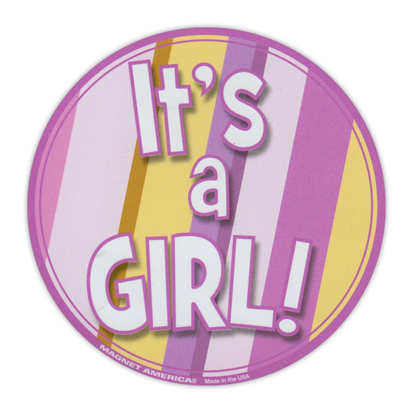 "Magnet - It's A Girl (5"" Round)"