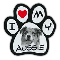 Picture Paw Magnet - I Love My Aussie