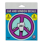"Window Decals (2-Pack) - Purple Peace Sign (4"" Diameter)"
