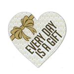"Magnet - Childhood Cancer Support Heart (4.25"" x 4.5"")"
