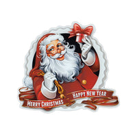 "Magnet - Merry Christmas Happy New Year (4.5"" Round)"