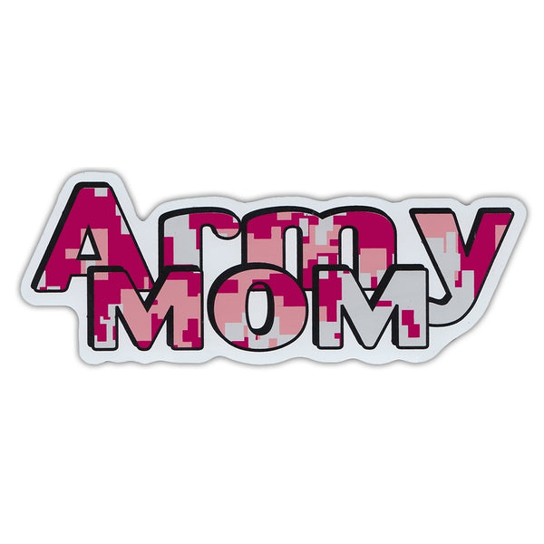"Word Magnet - Army Mom (2.25"" x 6.5"")"