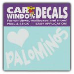 "Window Decal - Love Palominos (4.5"" Wide)"