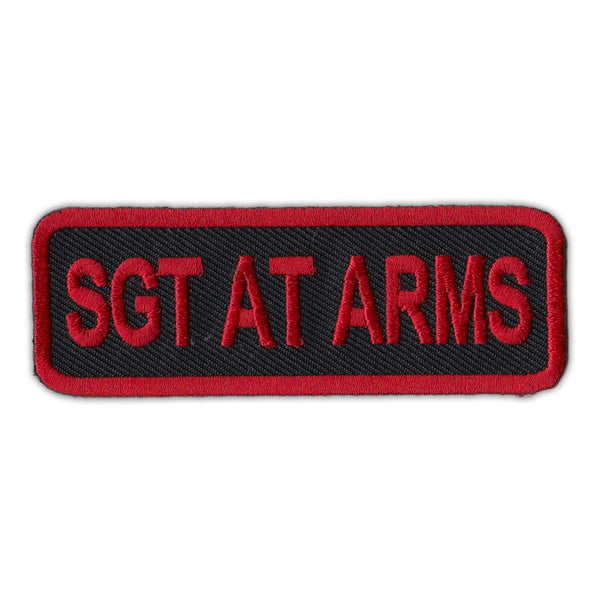 Patch - Sgt At Arms (Sergeant), Red/Black