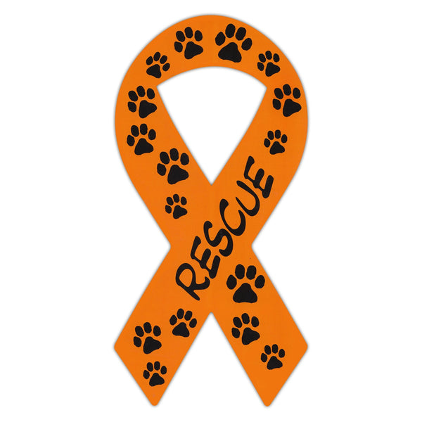 Ribbon Magnet - Rescue (Orange)