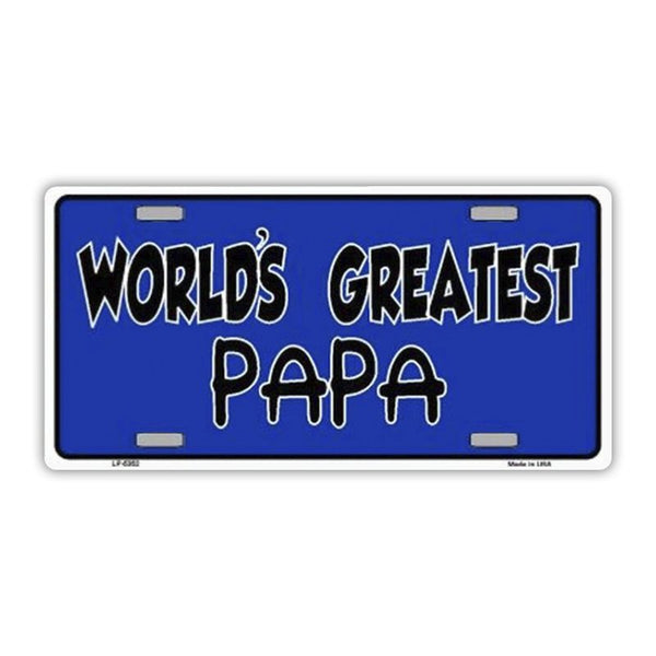 World's Greatest Papa (Father or Grandpa) Plate