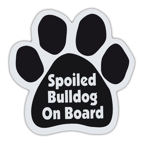Dog Paw Magnet - Spoiled Bulldog On Board