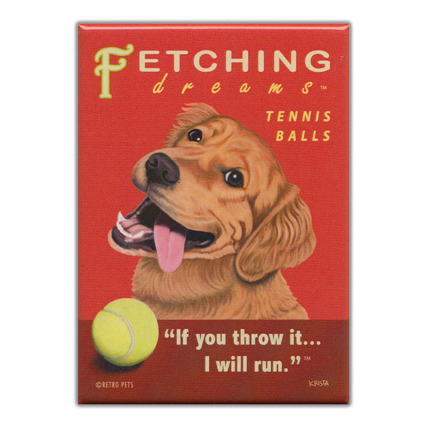 Refrigerator Magnet - Fetching Dreams Tennis Balls