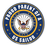 Round Magnet - Proud Parent of a US Sailor
