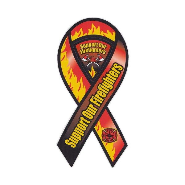 "Magnet - Support Our Firefighters (4"" x 8"")"