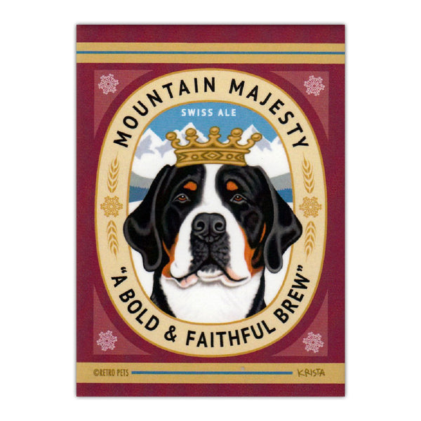 Refrigerator Magnet - Mountain Majesty Swiss Ale