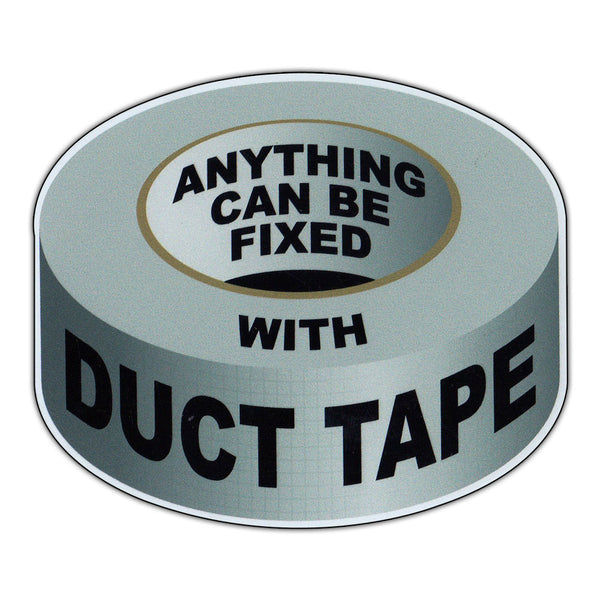 "Magnet - Anything Can Be Fixed With Duct Tape (4"" x 3.5"")"