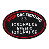 Oval Magnet - Stop Dog Fighting
