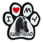 Picture Paw Magnet - I Love My Basset Hound