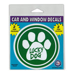"Window Decals (2-Pack) - Lucky Dog (4"" Diameter)"