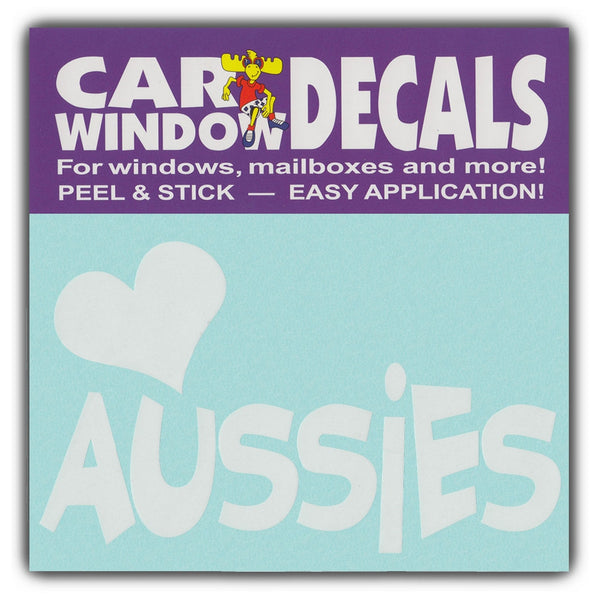 "Window Decal - Love Aussies (4.5"" Wide)"