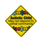 "Magnet - Autistic Child Warning (5.5"" x 5.5"")"