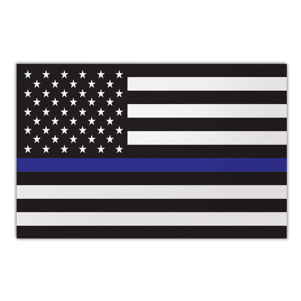 "Magnet - Giant Size, Thin Blue Line United States Flag  (12"" x 7.75"")"
