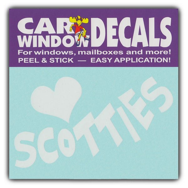 "Window Decal - Love Scotties (4.5"" Wide)"