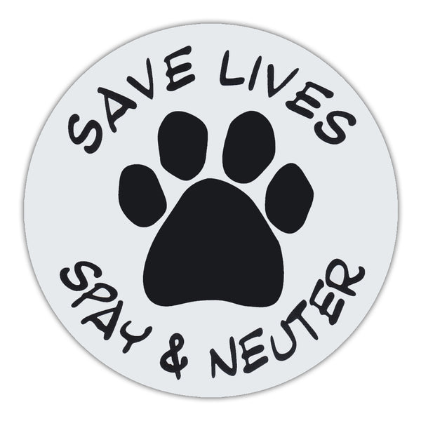 Round Magnet - Save Lives, Spay & Neuter