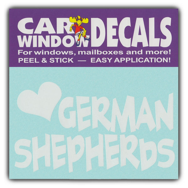 "Window Decal - Love German Shepherds (4.5"" Wide)"