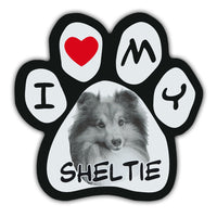 Picture Paw Magnet - I Love My Sheltie