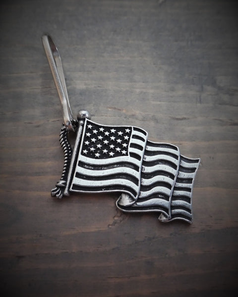 "Zipper Pull - United States Flag (.75"" x 1.5"")"