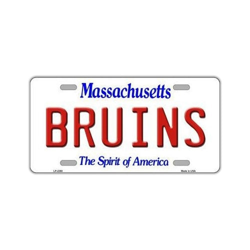 NHL Hockey License Plate Cover - Boston Bruins