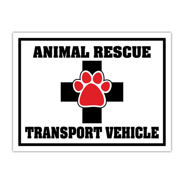 "Magnet - Animal Rescue Transport Vehicle Door Magnet (12"" x 9"")"