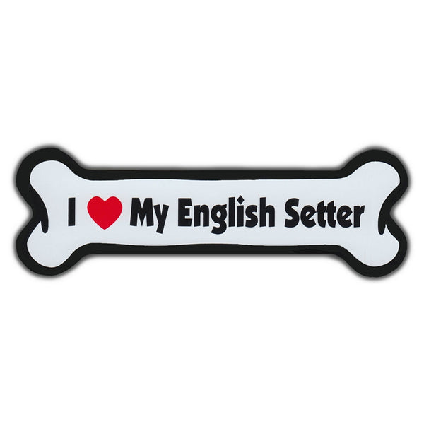 Dog Bone Magnet - I Love My English Setter