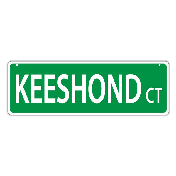 Novelty Street Sign - Keeshond Court