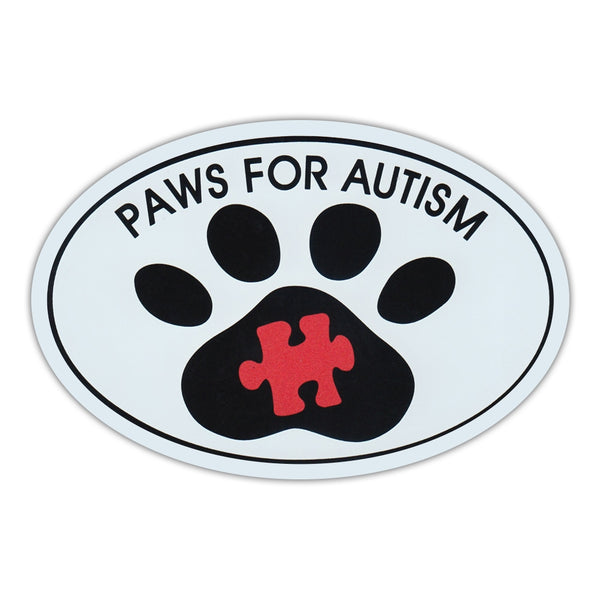 Oval Magnet - Paws For Autism