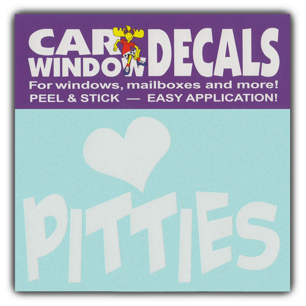 "Window Decal - Love Pitties (4.5"" Wide)"