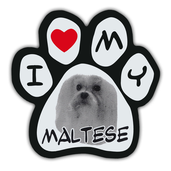 Picture Paw Magnet - I Love My Maltese