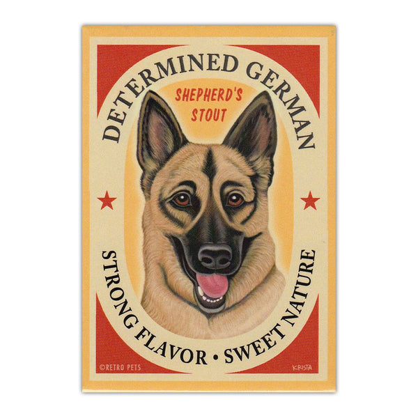 Refrigerator Magnet - Determined German Shepherd's Stout