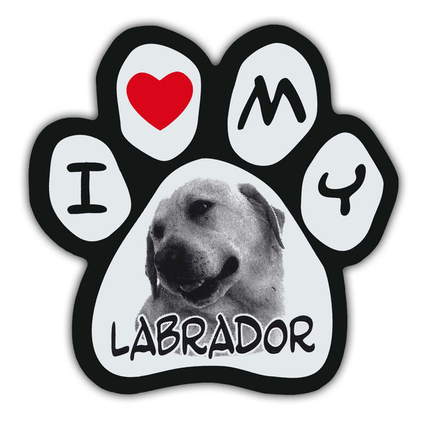 Picture Paw Magnet - I Love My Labrador