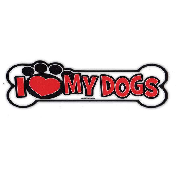 "Magnet - I Love My Dogs  (5.5"" x 2"")"