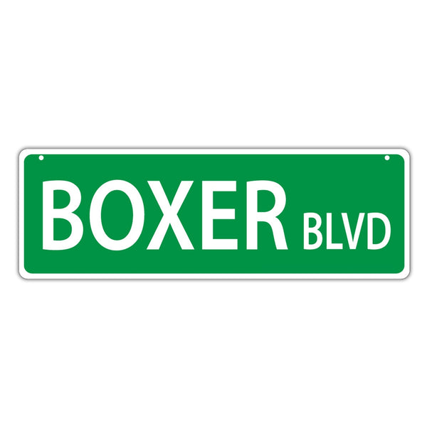 Street Sign - Boxer Blvd