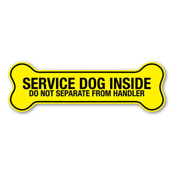 "Magnet - Service Dog Inside, Do Not Separate From Handler (7"" x 2.25"")"