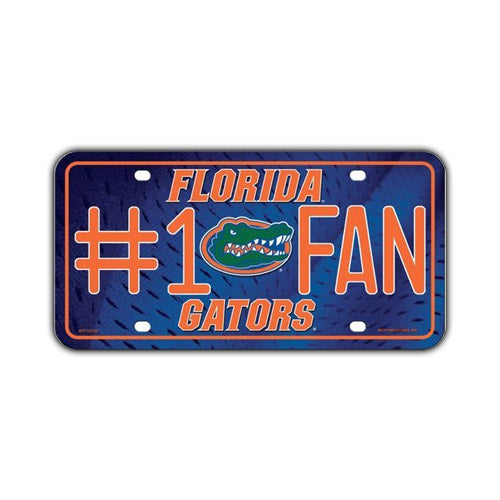 Embossed Aluminum License Plate Cover - University of Florida Gators