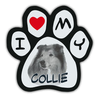 Picture Paw Magnet - I Love My Collie