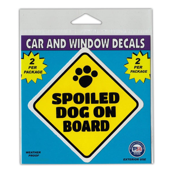 "Window Decals (2-Pack) - Spoiled Dog On Board (3"" x 3"")"