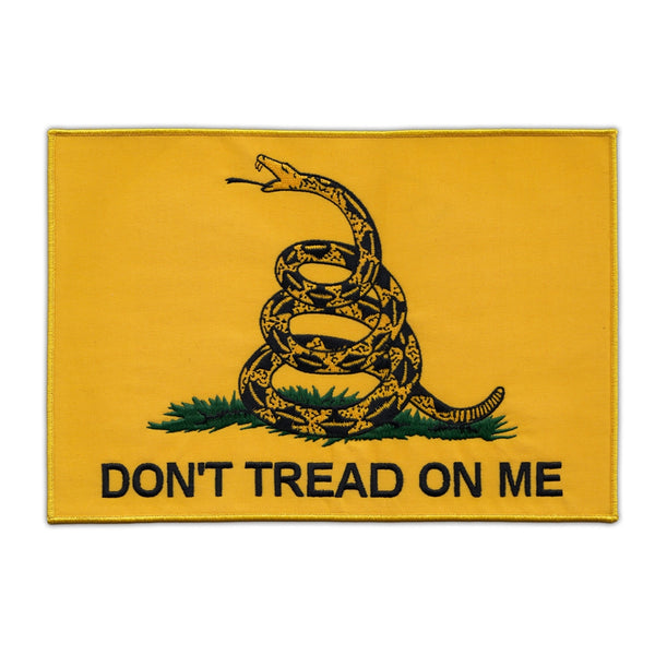 Patch - Gadsden Flag Don't Tread On Me (Back Patch)