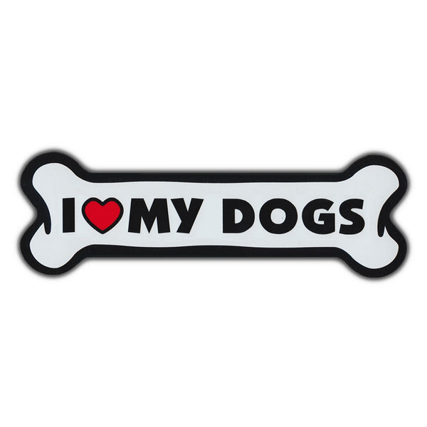 Giant Size Dog Bone Magnet - I Love My Dogs