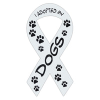 Ribbon Magnet - I Adopted My Dogs