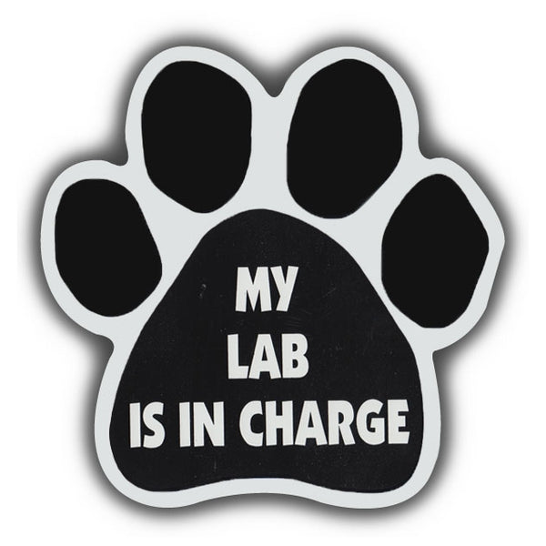 Dog Paw Magnet - My Lab Is In Charge