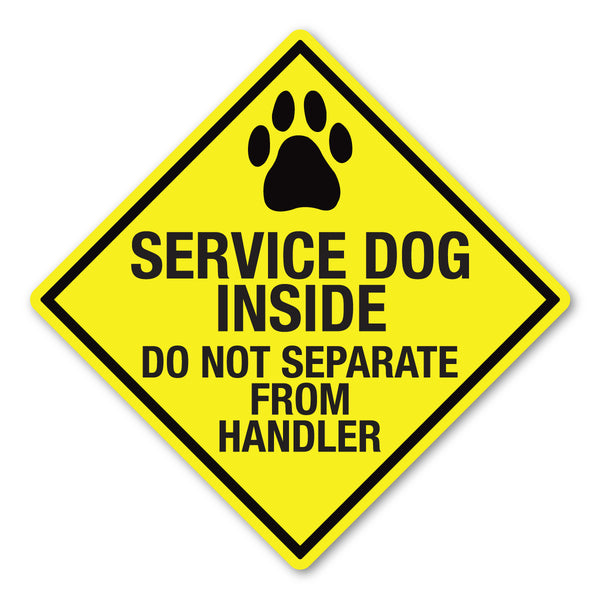 "Magnet - Service Dog Inside, Do Not Separate From Handler (5"" x 5"")"